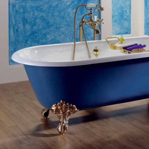 Badewanne freistehende Gusseisen mit Diane Füße gemalt