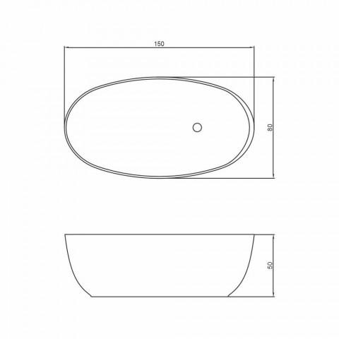 Freistehende ovale Design-Badewanne aus italienischem Fabriano