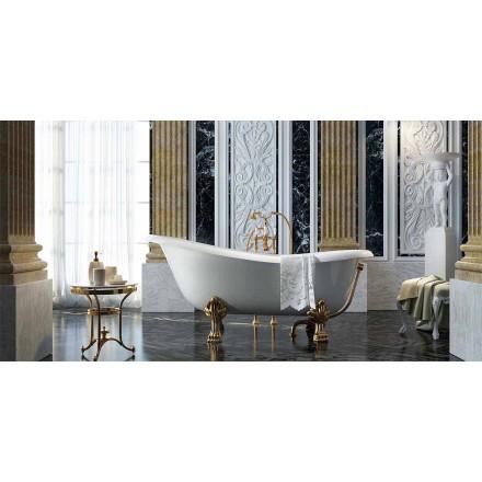 Freistehende Badewanne mit klassichen Design in Italien hergestellt, Fregona