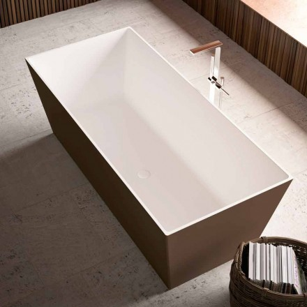 Badewanne Free Standing, zweifarbig Außenbereich glänzend oder matt - Filo