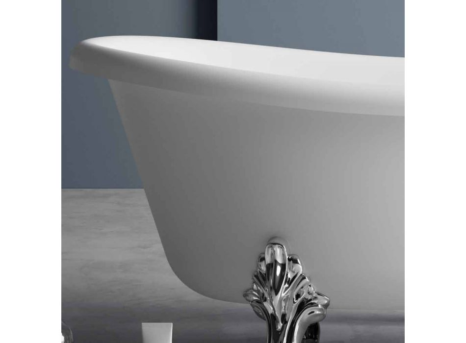 Freistehende Badewanne, viktorianisches Design in Solid Surface - Regen