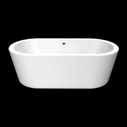 Nicole kleine wei e acryl freistehende badewanne 1675x777 mm freistehende badewannen viadurini - Kleine freistehende badewanne ...