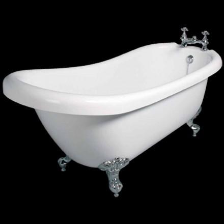 Moderne freistehende Badewanne aus weißem Acryl Dawn 1700x750mm