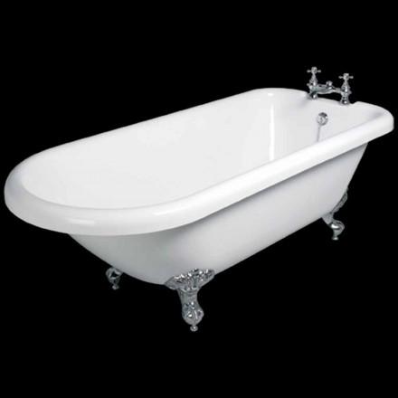 Design freistehende Badewanne in weißem Acryl 1770x795 mm