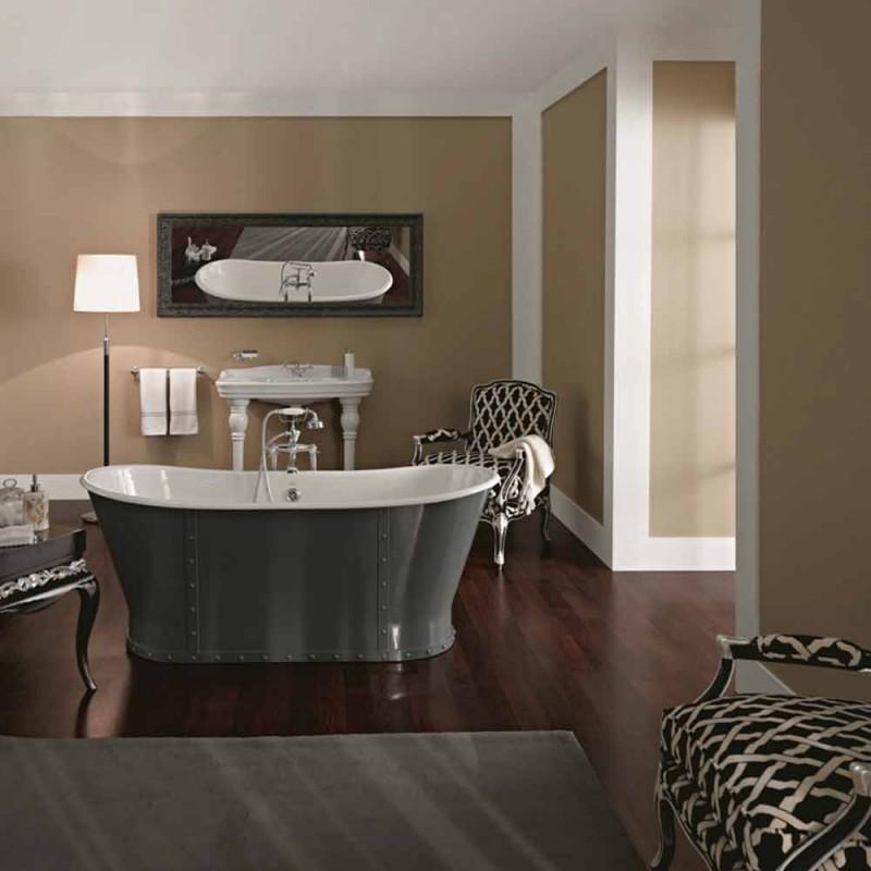 Freistehende Badewanne aus Gusseisen mit Original-Design Cox