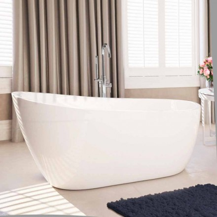Moderne freistehende Badewanne aus weißem Acryl 1730x775 mm Abbie