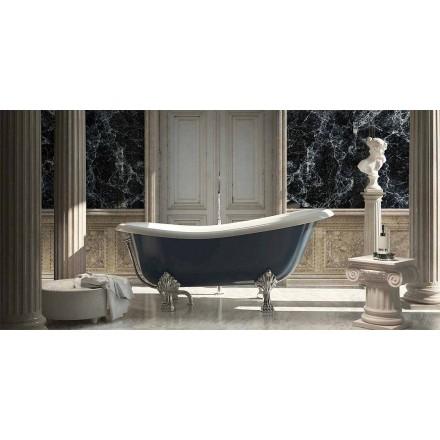 Freistehende Badewanne aus blaue Harz mit klassichen Design, Fregona