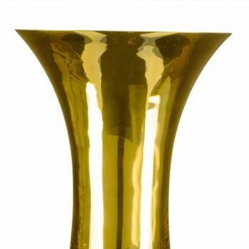Artisan Vase aus weißem mundgeblasenem Glas oder 24 Karat Gold Made in Italy - Canberra