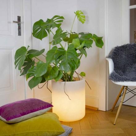 Vase mit Solarbeleuchtung oder LED-Design für drinnen oder draußen - Cilindrostar