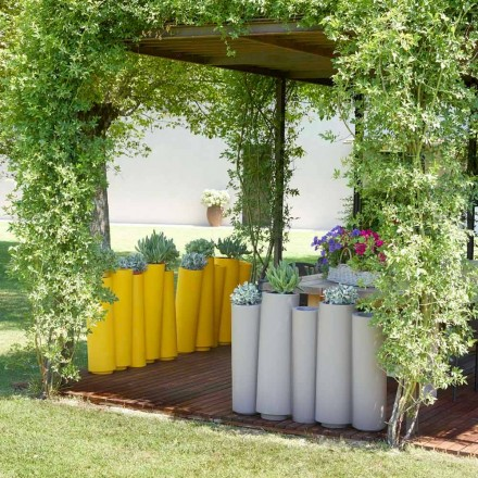 Dekorativer Vase aus modernem Design Slide Bamboo, hergestellt in Italien