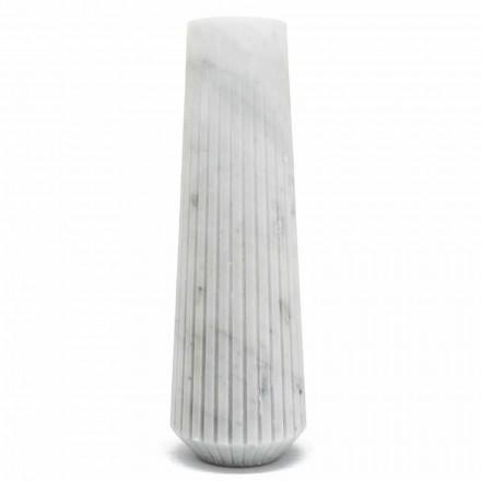 Moderne weiße Carrara Marmor dekorative Vase Made in Italy - Kairo