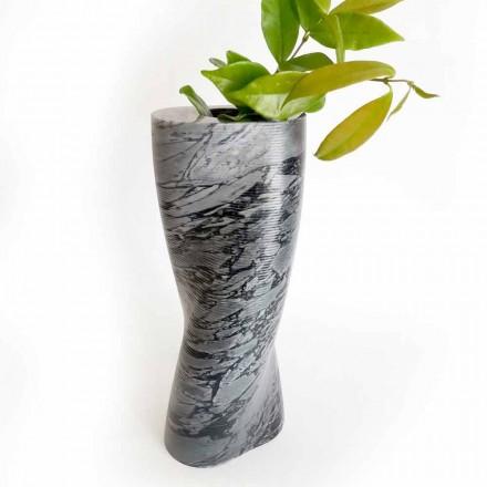 Moderne dekorative Vase aus Bardiglio Fiorito Marmor Made in Italy - Dido