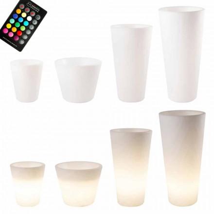 Mehrfarbiger oder Solar LED beleuchteter Topf für Garten oder Wohnzimmer - Vasostar