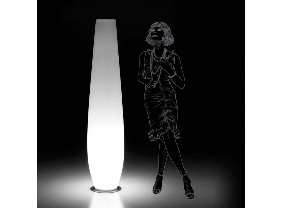Außenleuchtvase mit LED-Licht aus Polyethylen Made in Italy - Nadai
