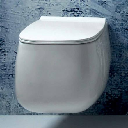 Weiße Keramikvase aus modernem Design Gaiola, hergestellt in Italien