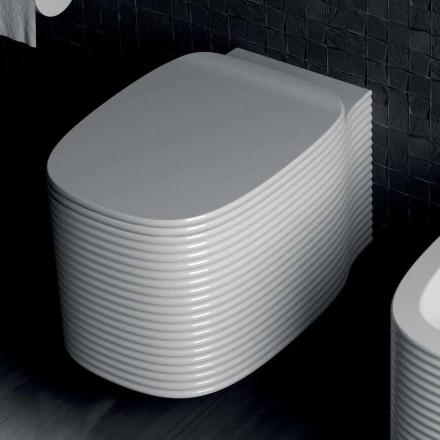 Hängende Vase in modernem Design aus Keramik, hergestellt in Italien, Amleto