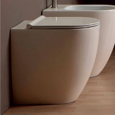 Moderne Toilettenschüssel aus weißer Keramik Shine Square H50 Rimless