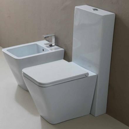 Toilettenschüssel aus weißer Keramik modernes Design Sun Square Italy