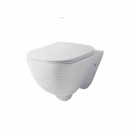 Moderne Hängetoilettenvase aus weißer oder farbiger Keramik Trabia