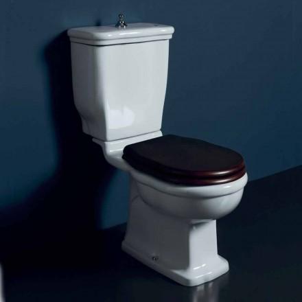Einzelblock-Toilettenschüssel aus weißer Keramik Style 72x36cm, Italy