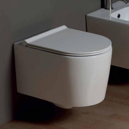 Hangende Toilettenschüssel aus Keramik, Design Shine Square, Italy