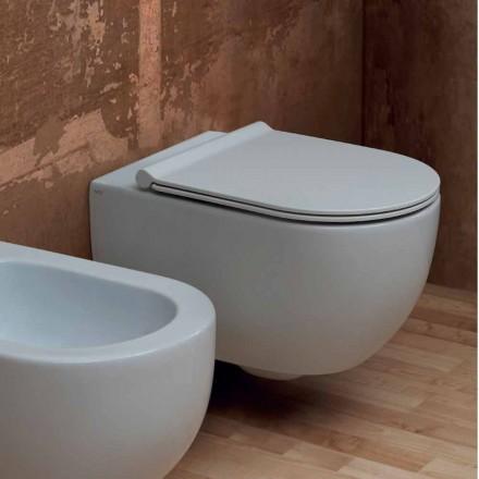 Hangende Toilettenschüssel aus Keramik Design Star 55x35 made in Italy