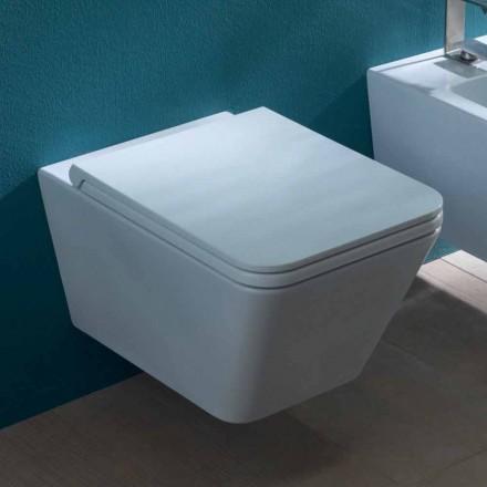 Hängende Toilettenschüssel, Keramik, modernes Design Sun Square, Italy