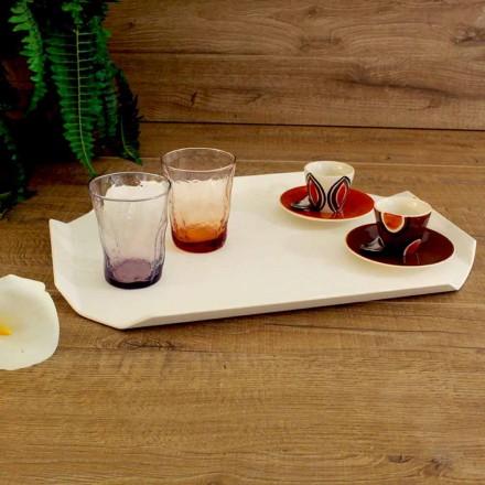 Küchentablett Schneidebrett aus weißem Corian Elegantes Rechteckiges Design - Ivanova