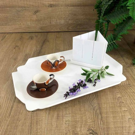 Elegantes Küchentablett aus weißem Corian Rechteckiges Schneidebrett - Ivanova