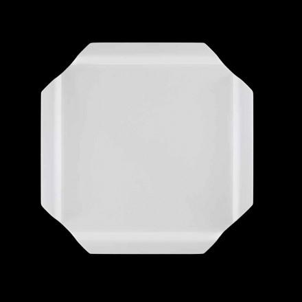 Weißes Corian Tablett Küchenschneidebrett mit Ecken - Ivanova