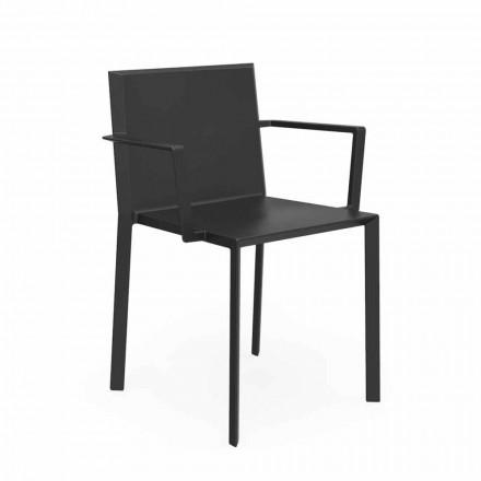 Vondom Quartz Gartenstuhl mir Armlehnen von Design, L52xP57xH79cm, 4 Stück