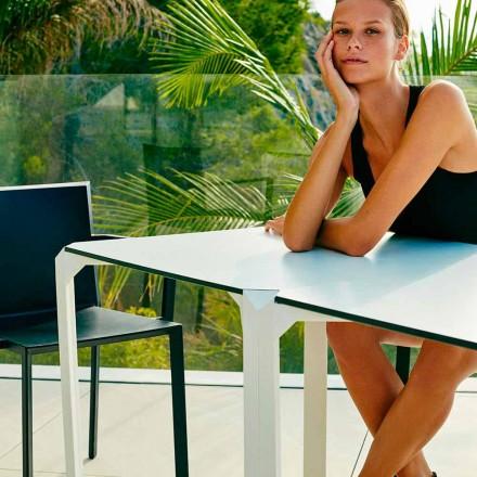 Vondom Quartz quadratischer Gartentisch in modernem Design, 2 Stücke