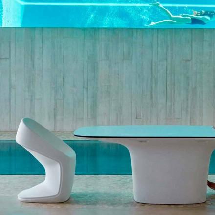 Vondom Ufo weißer moderner Gartenstuhl, L56 x P62 x H83 cm, Design