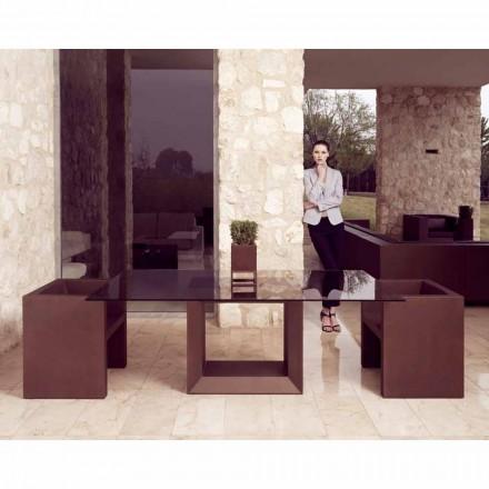 Vondom Vela Gartensessel in modernem Design, bronzefarbene Feinarbeit
