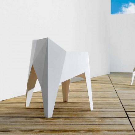 Vondom Voxel moderner Gartenstuhl aus farbigem Polyäthylen, 4 Stück