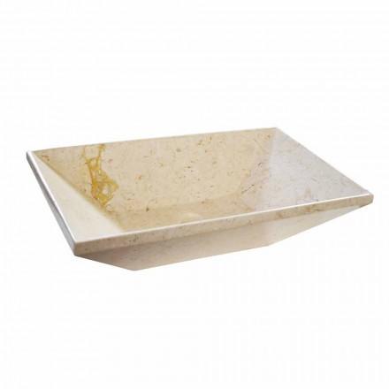 Wok Aufsatzwaschbecken aus Marmor in Design Trapezform