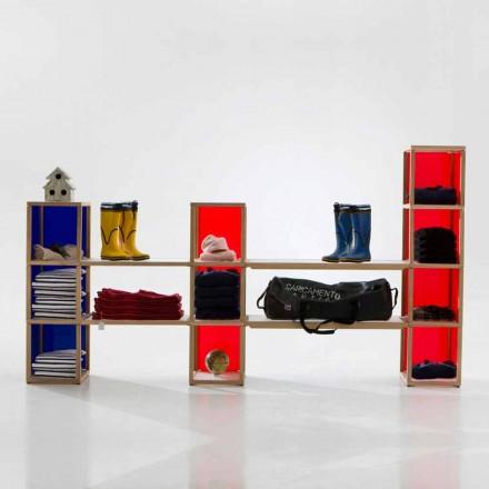 Bücherregal modular in modernem Design Zia Babele I Castelli 2
