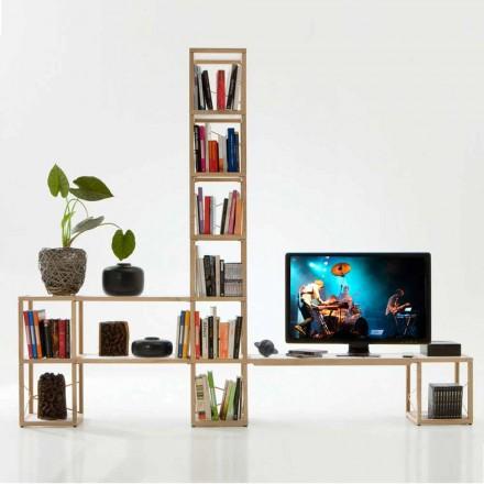 Bücherregal modular in modernem Design Zia Babele I Castelli 3