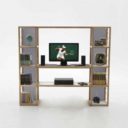 Bücherregal modular in modernem Design Zia Babele I Castelli 5